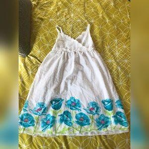 EUC Penelope Mack Sz 8 White Eyelet Dress